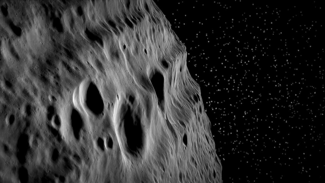 Virtual Flight over Asteroid Vesta