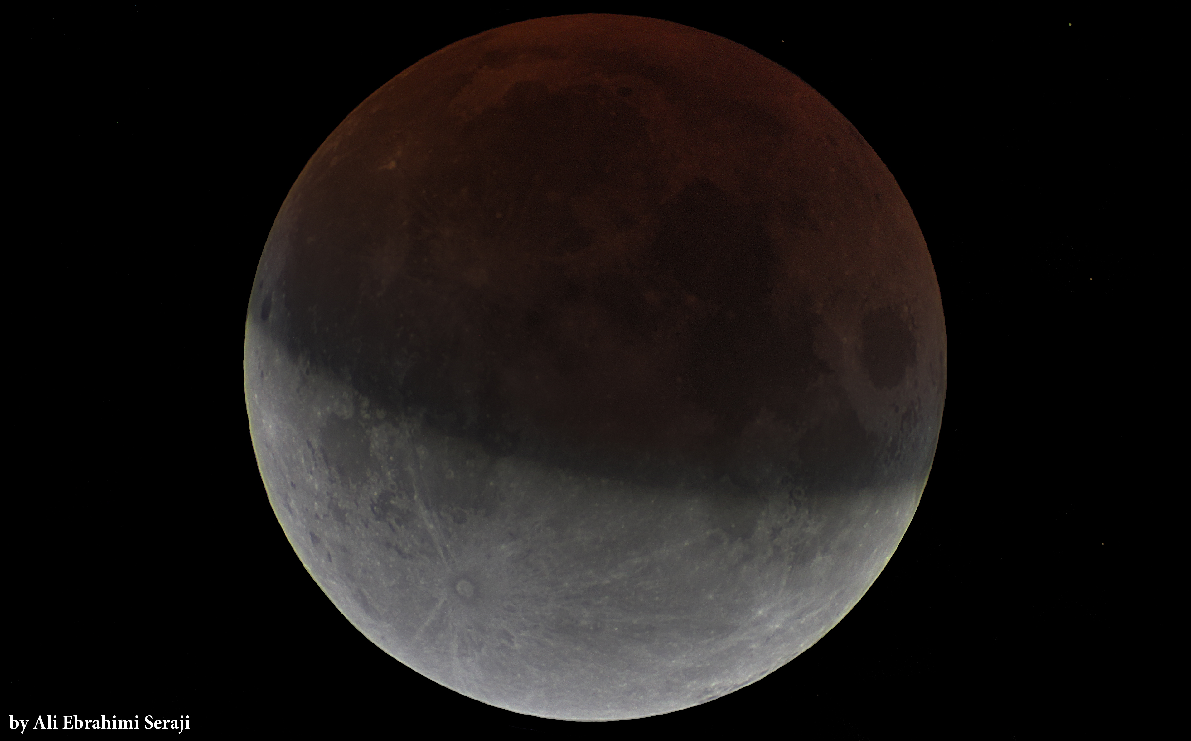 Partial Lunar Eclipse ماه گرفتگی‌جزئی