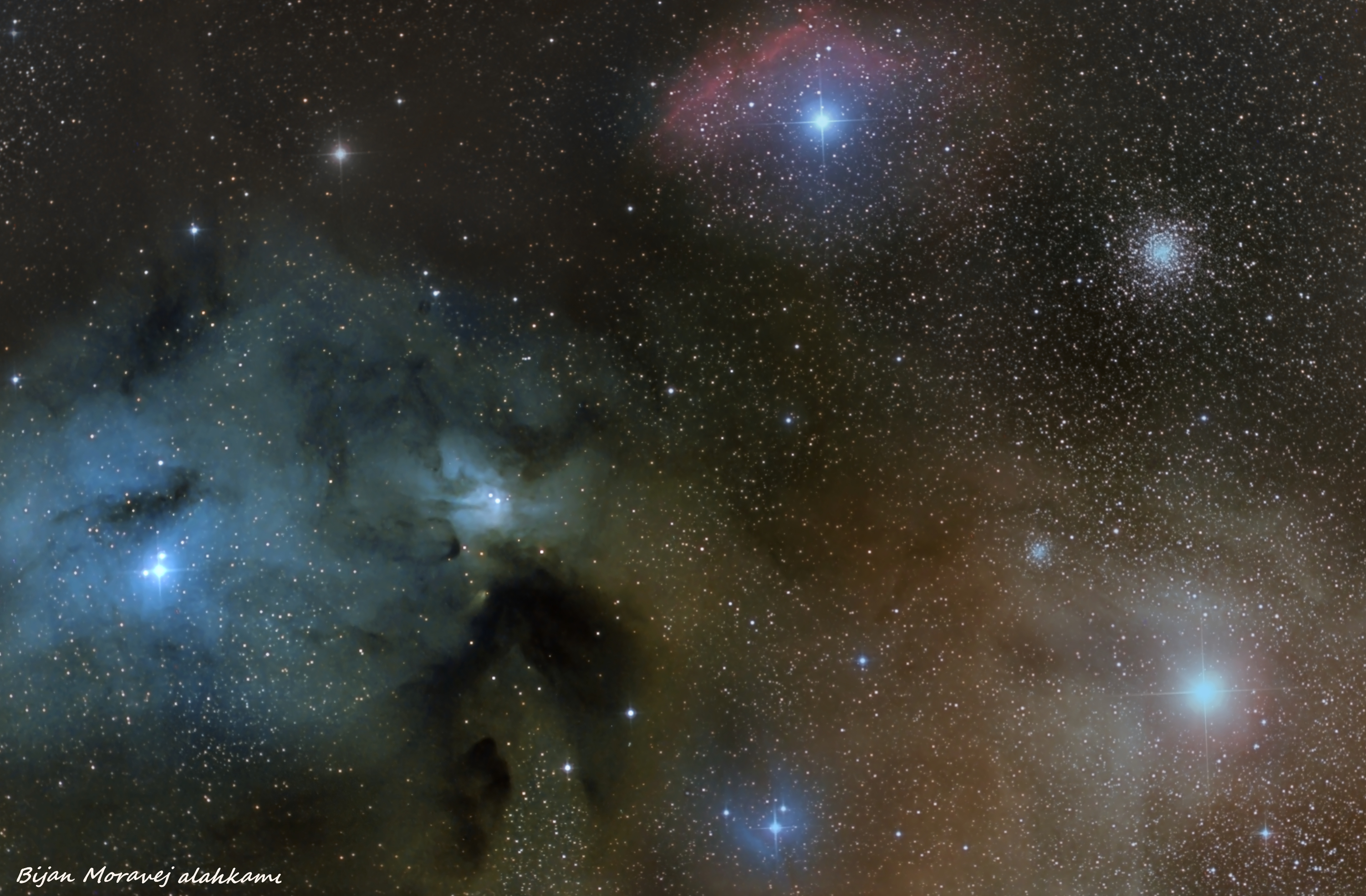 supergiant Antares and Rho ophiuchi
