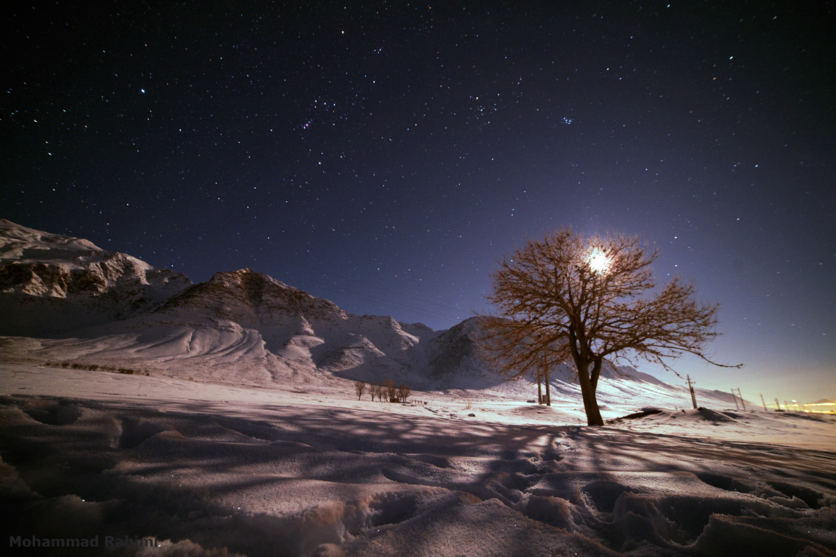 عکس آسمان زیبا در شب