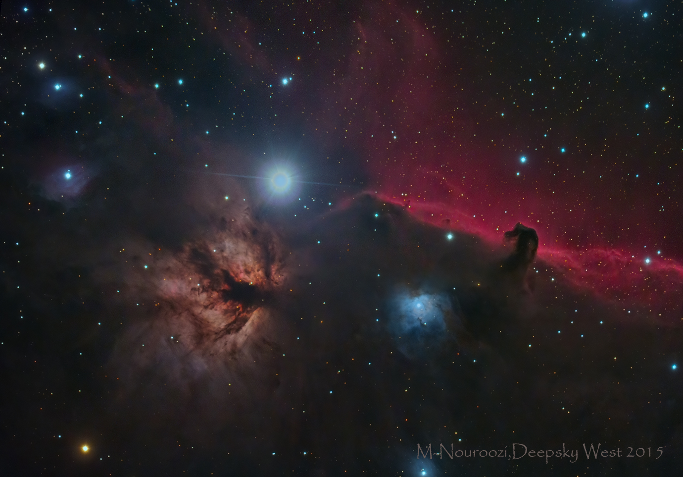 Horse head And Flame Nebulae In Orion!