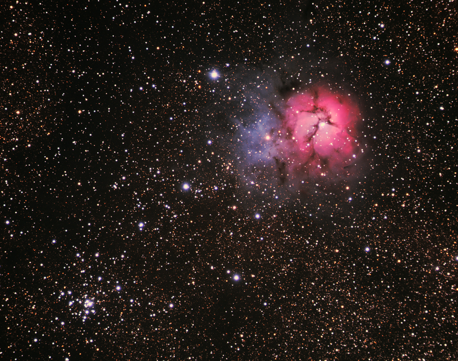 Trifid Nebula and his companion