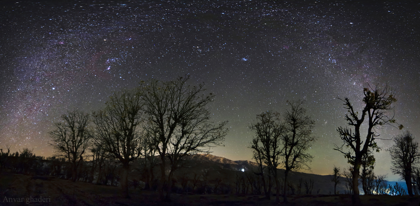 Airglow and winter constellations