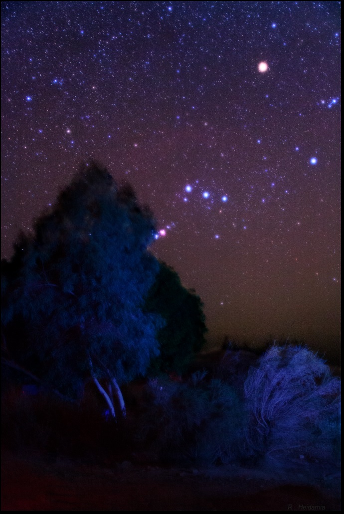Orion , going to set in dusts
